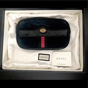 Gucci Ophidia Mini Suede Phone Belt Bag